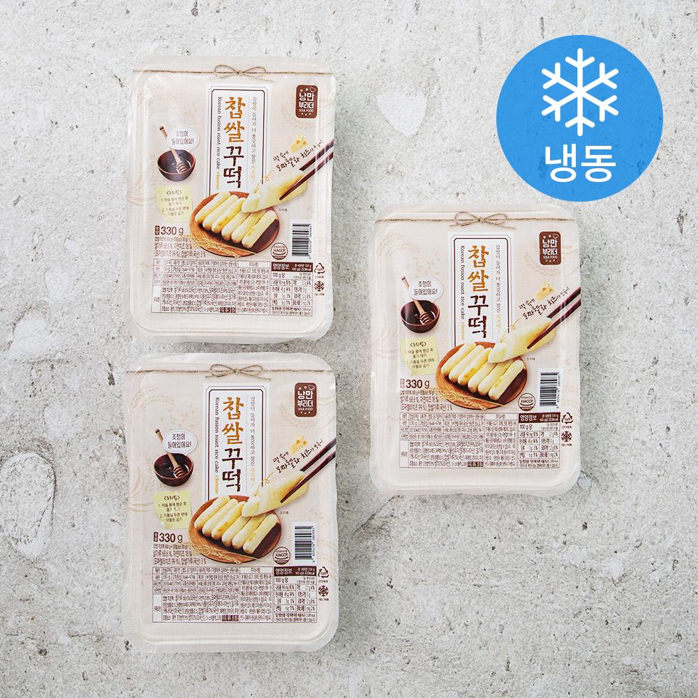 낭만부라더 찹쌀꾸떡 (냉동), 330g, 3개