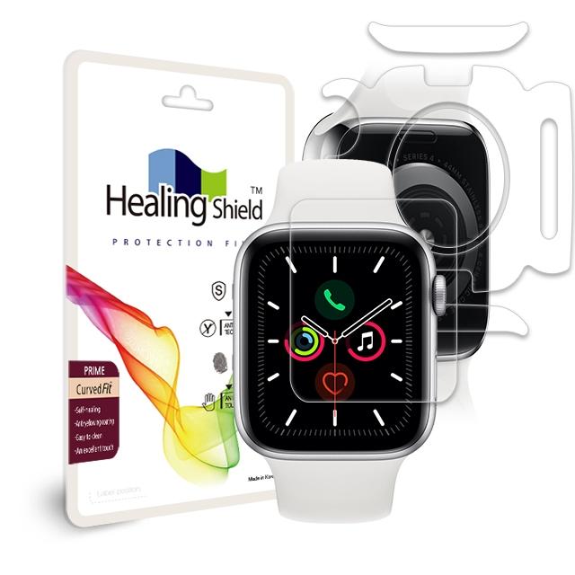 힐링쉴드 애플워치5 40mm 프라임 고광택 액정보호필름 2p + 심박센서 2p + 외부 2p, 1세트