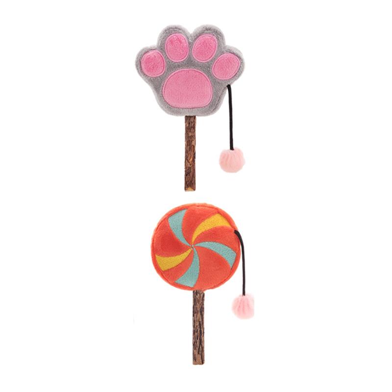 펫츠몬 마따따비스틱 캣닢봉제인형 잇템 고양이 막대 장난감, 랜덤 발송, 2개
