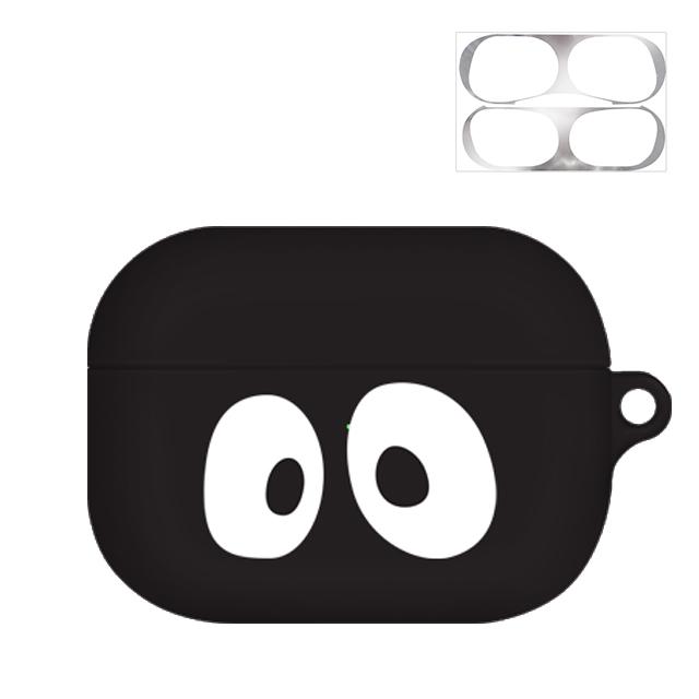 바니몽 까망까망 실리콘 에어팟프로 이어폰 케이스 + 철가루 방지 스티커, 단일 상품, 큐티까망