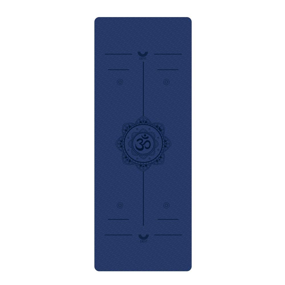 데비 TPE 8mm 센터라인 요가매트 NO 2, 미드나잇 블루