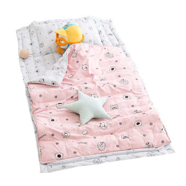 시은데코 뽀로로 도트 낮잠이불세트 일체형, 핑크