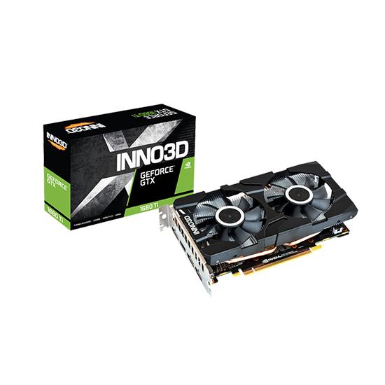 INNO3D 지포스 GTX 1660 Ti D6 6GB 백플레이트 그래픽카드 INNO3D RTX1660TI X2