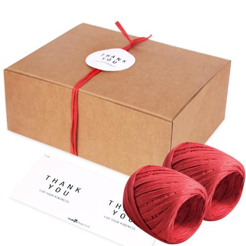 인디고샵 모던 선물상자 4호 12p + 라피아 2p + 라벨 12p, 크라프트, 1세트