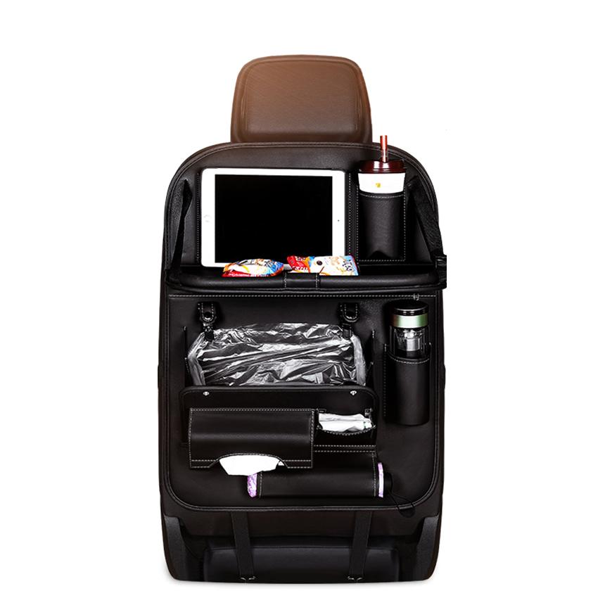 삼에스 멀티 시트백 차량용 포켓 트레이 블랙, 1개