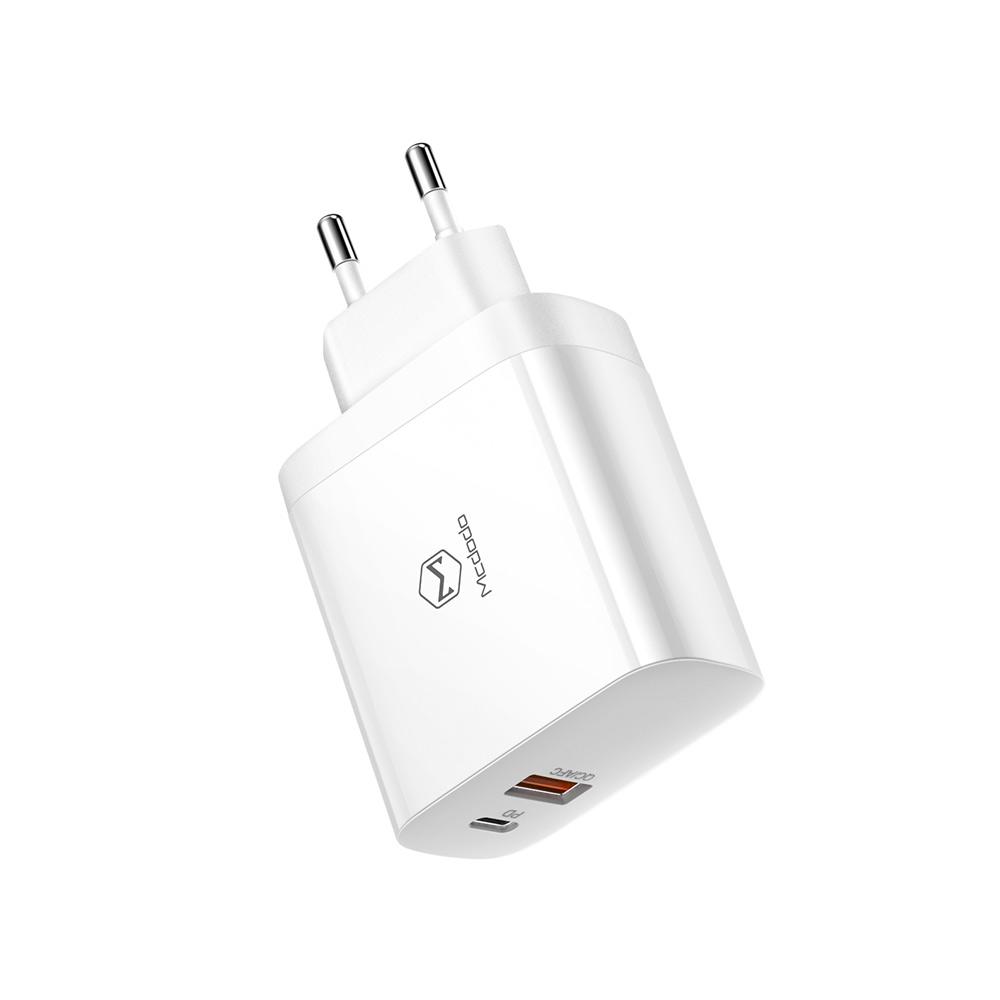 맥도도 30W USB C타입 + A타입 2포트 고속 충전기, 화이트, 1개