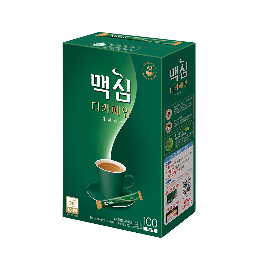 맥심 디카페인 커피믹스, 11.8g, 100개입