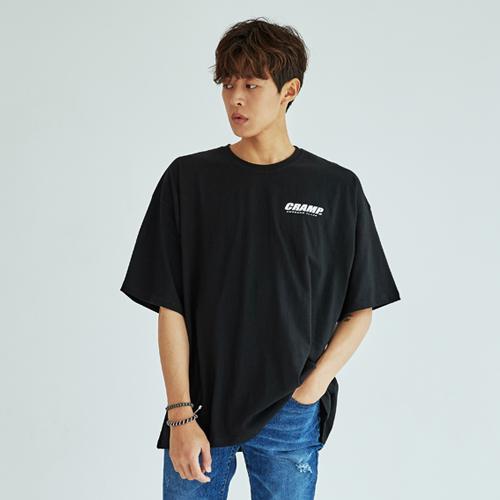 빅사이즈클럽 남성용 CRAMP 어썸 박스 반팔 티셔츠