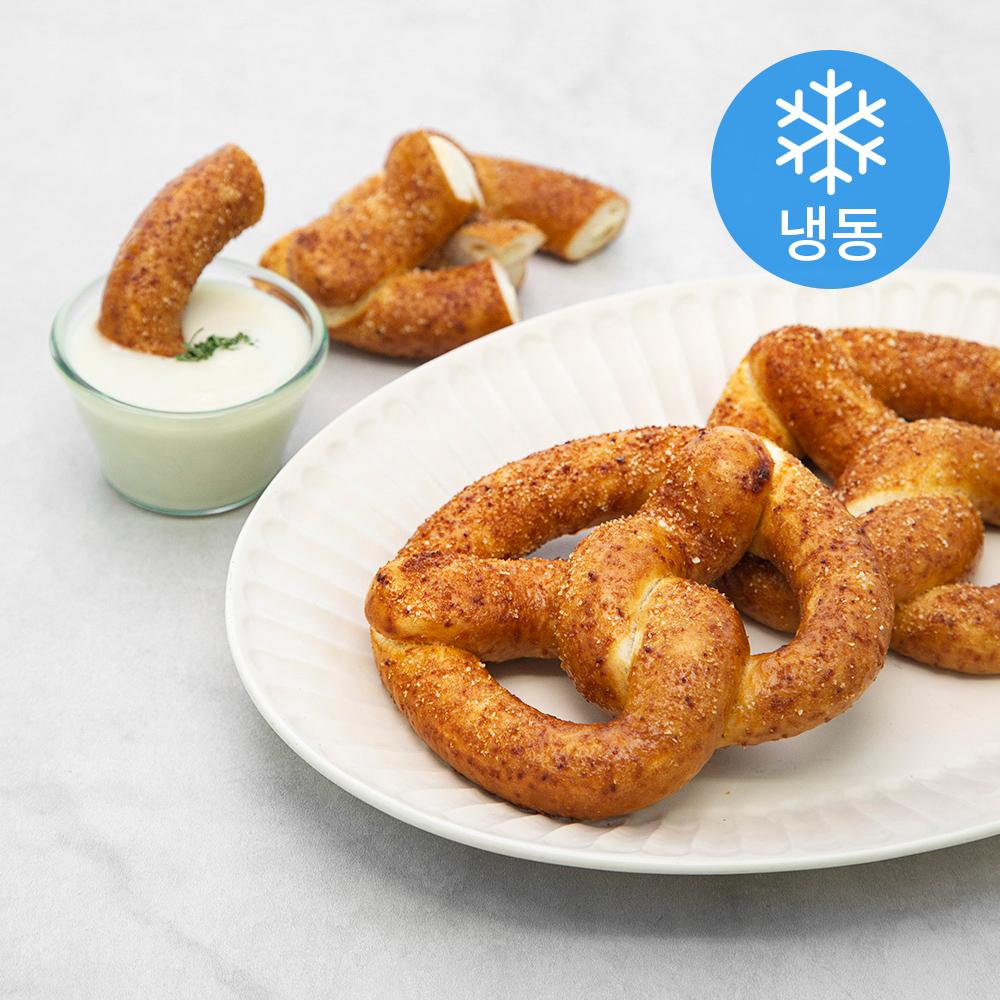 플레잇 베이커리 크림치즈 프레즐 (냉동), 100g, 8개