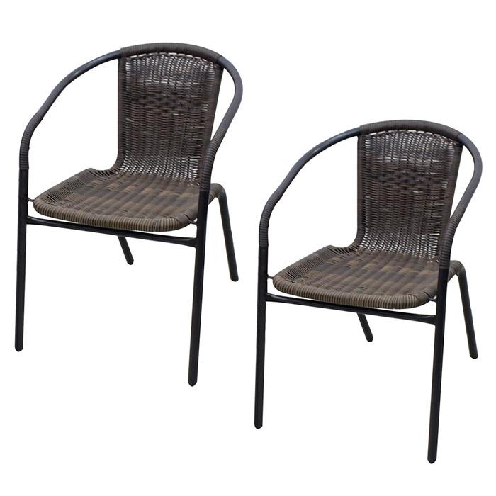 라탄 의자 2p, 커피