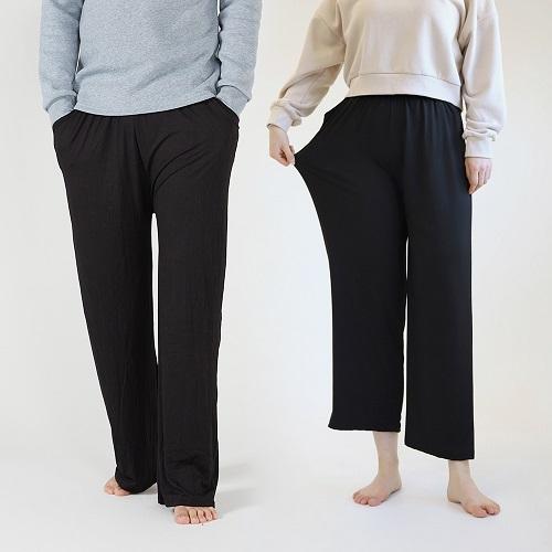 마른파이브 커플용 소프트실키 잠옷 바지 남녀세트