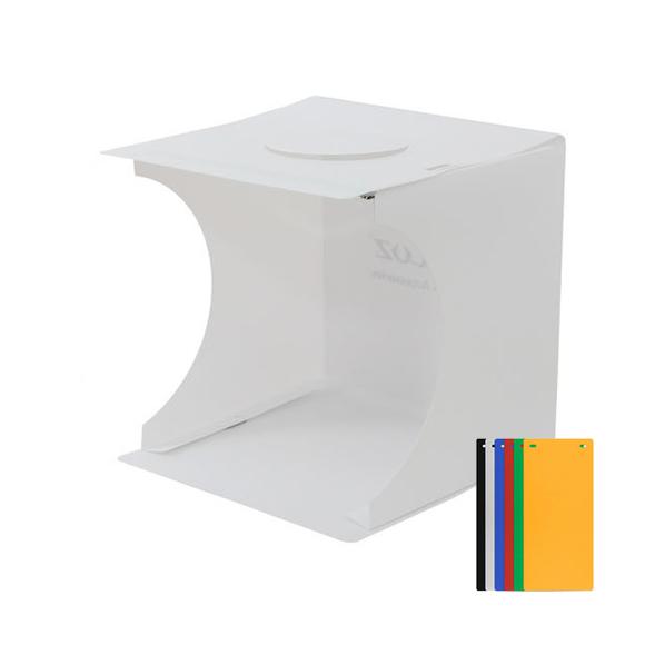 포터블 듀얼라이트 LED 미니 포토박스 22 x 23 cm + 배경지 6종 세트, 단일 상품, 1세트