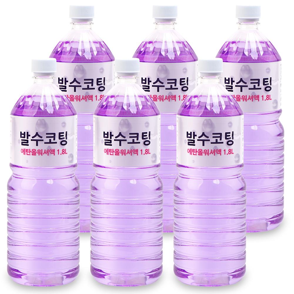퍼펙트 발수코팅 에탄올 워셔액, 1.8L, 6개