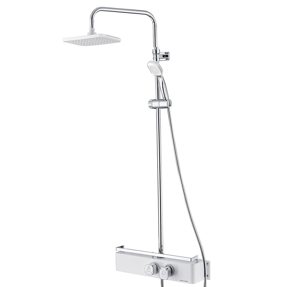 코시나 일체형 해바라기 샤워기 화이트 KXN-851, 1개
