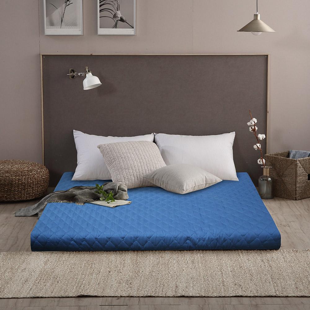 리브맘 세븐존 퀼팅누빔 매트리스 11cm, 블루