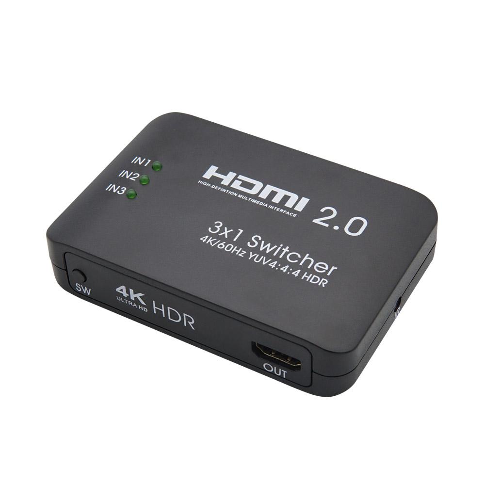 컴스 4K UHD HDMI 2.0 3대1 선택기 60Hz HDR 지원, FW759
