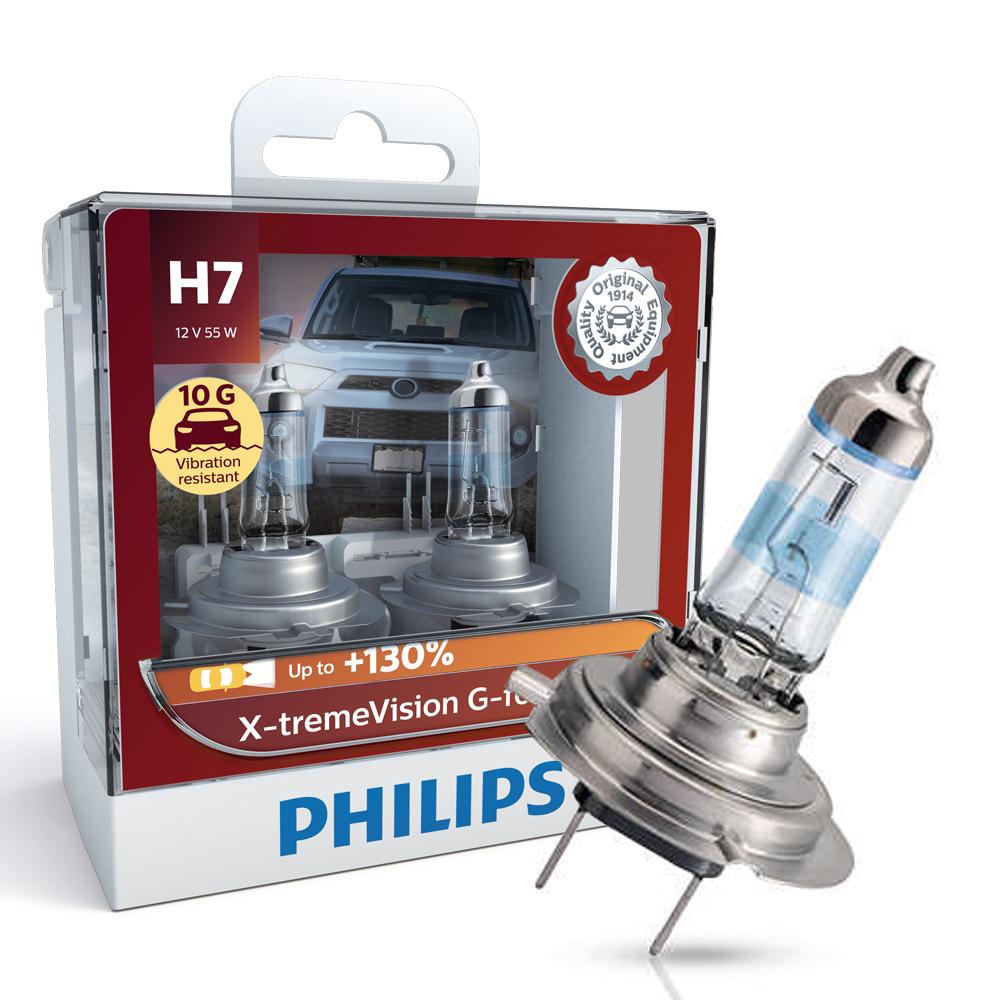 필립스 익스트림 비젼 지포스 할로겐램프 H7, 혼합 색상, 1개