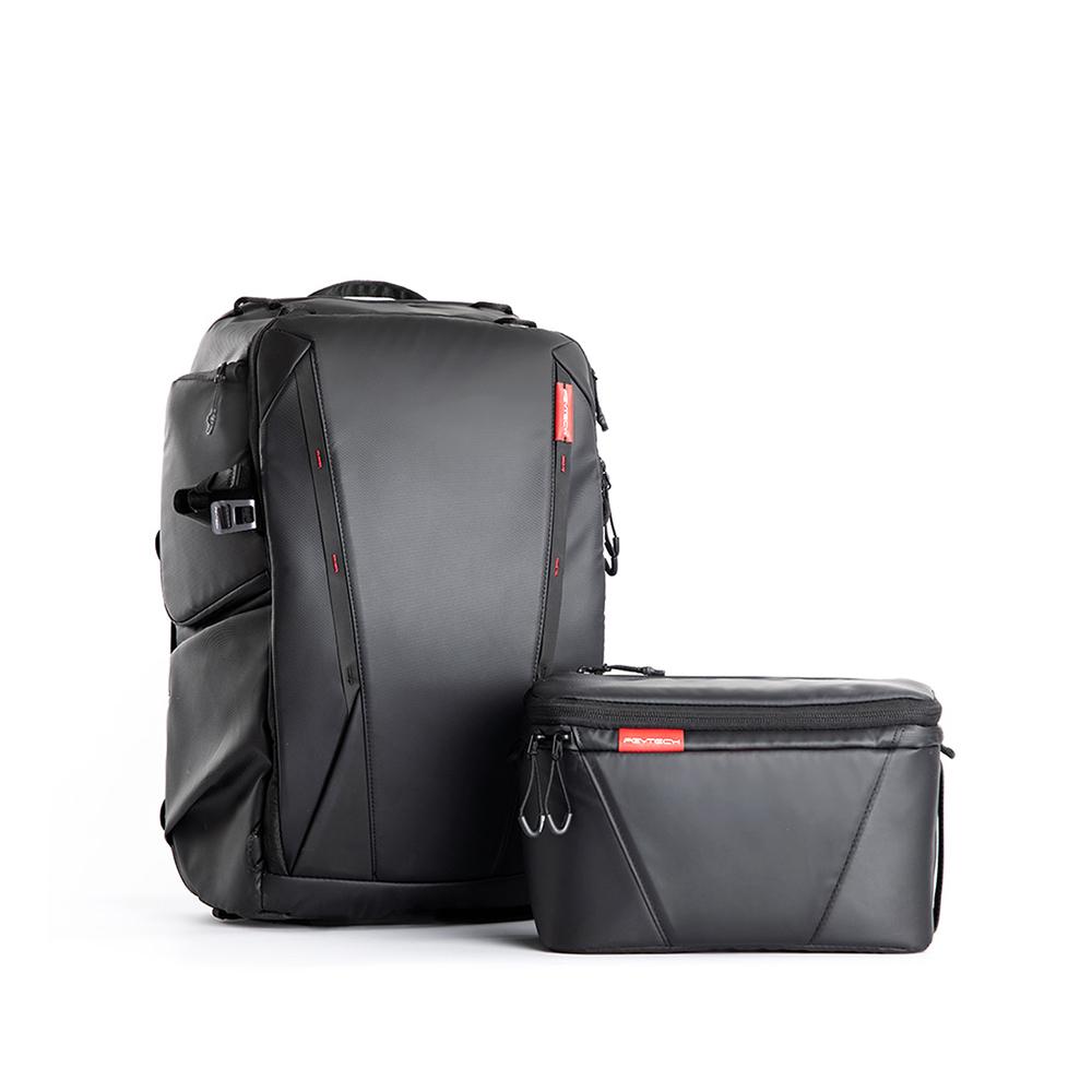 피지와이텍 OneMo 카메라 백팩 25L + 숄더백, Black
