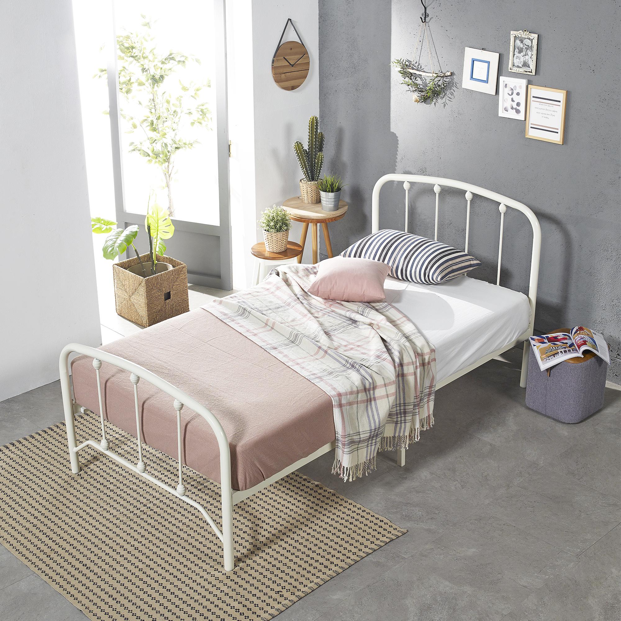 홈페리 라퓨타 침대 프레임 단품, 화이트