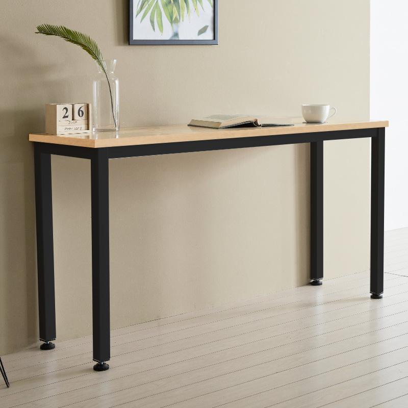 홈인홈 알피노 홈바테이블 테이블형 1200 x 300 x 720 mm, 오크 + 블랙