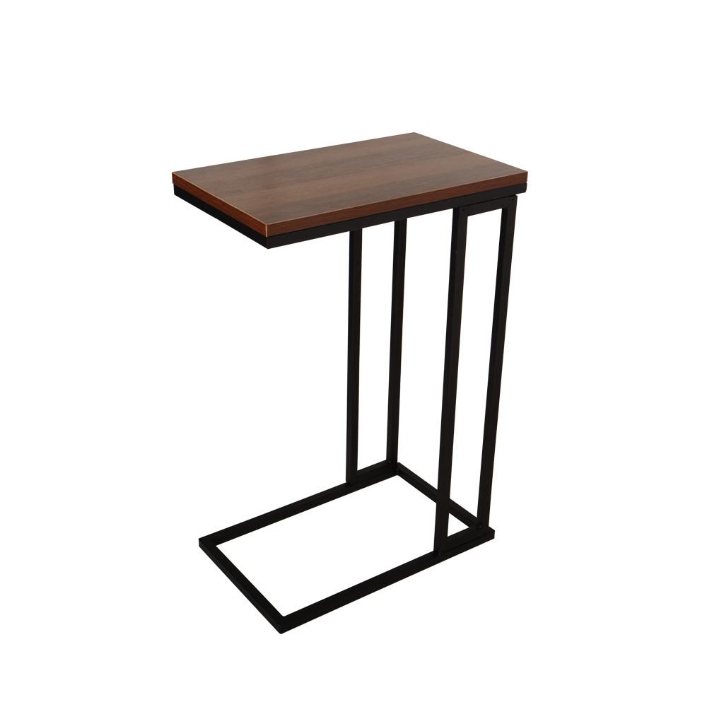 비블코리아 메탈 사이드 사각 테이블, 블랙