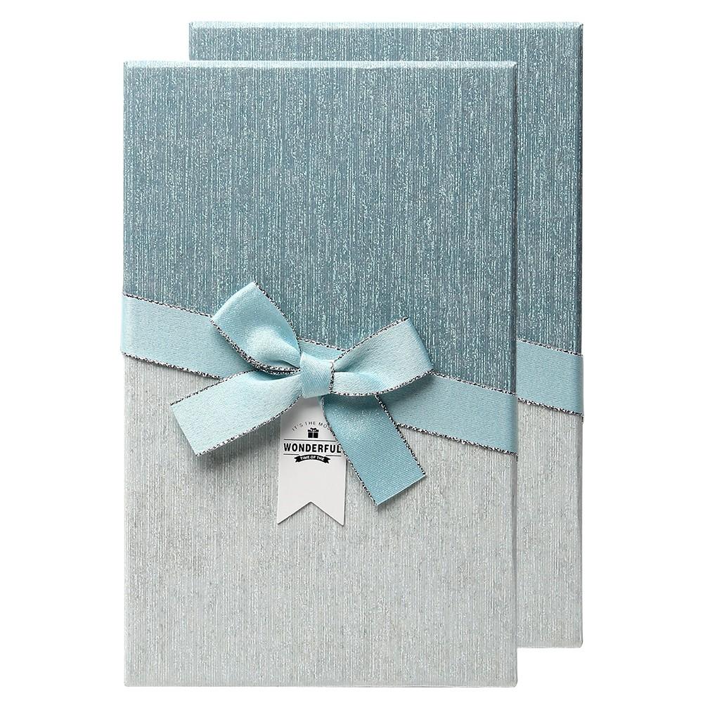 포포팬시 투톤 직사각형 선물상자, 블루, 2개