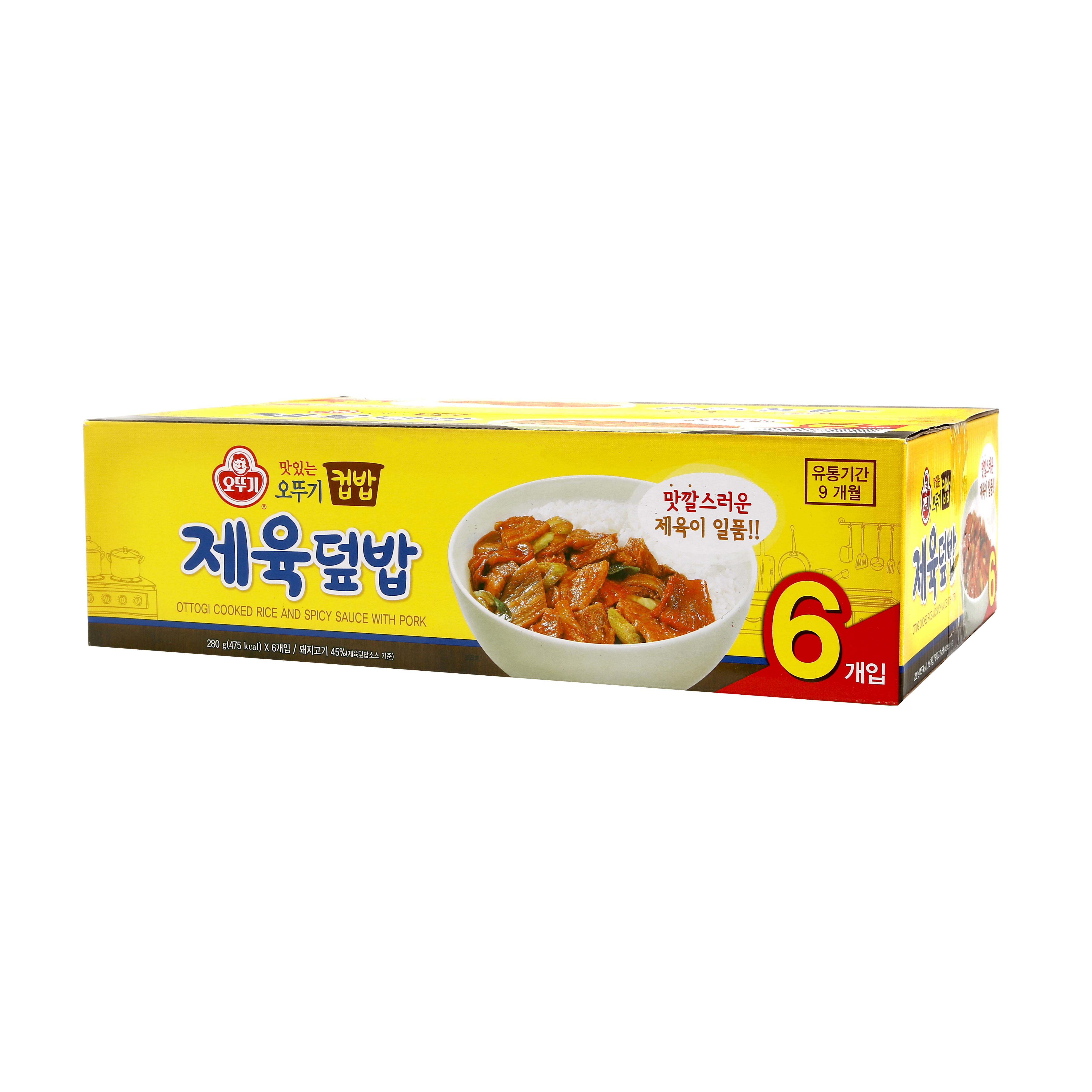 오뚜기 맛있는 컵밥 제육덮밥, 280g, 6개