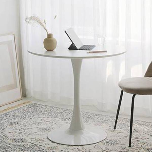 룸앤홈 블랑 원형 테이블, 화이트