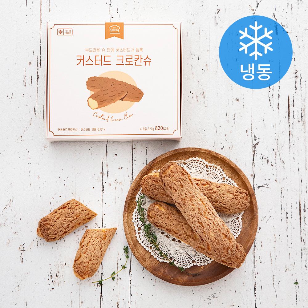 성수동베이커리 커스터드 크로칸슈 (냉동), 80g, 4개