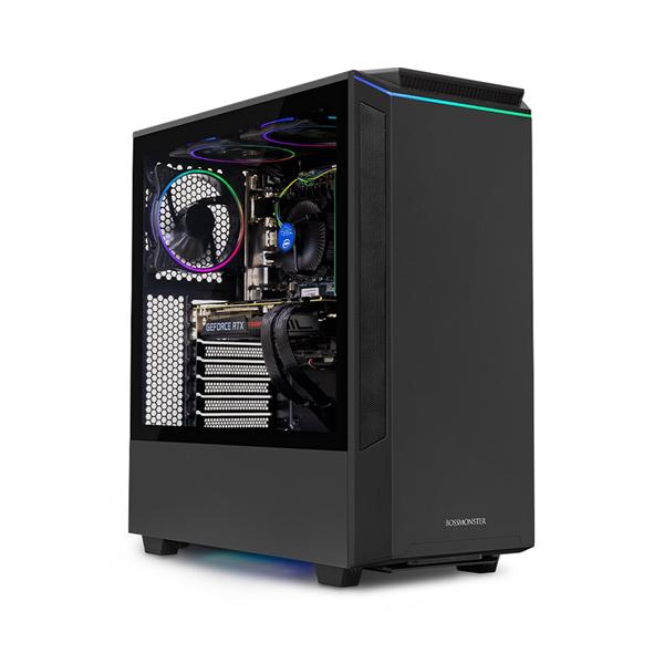 한성컴퓨터 보스몬스터 데스크탑 블랙 DX5526W (i5-9400F WIN10 16GB SSD 500GB 교체장착 RTX2060 6GB 파워 정격 650W), 기본형