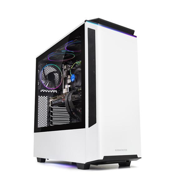 한성컴퓨터 보스몬스터 데스크탑 화이트 DX5526W (i5-9400F WIN10 16GB SSD 500GB 교체장착 RTX2060 6GB 파워 정격 650W), 기본형