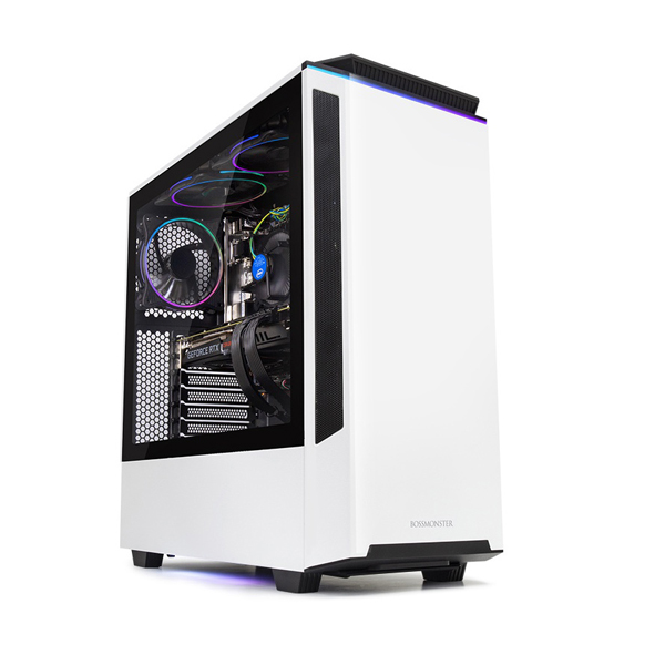 한성컴퓨터 보스몬스터 데스크탑 화이트 DX5727SW (i7-9700F WIN10 16GB SSD 500GB 교체장착 RTX2070 SUPER OC 8GB 교체장착 파워 정격 750W), 기본형