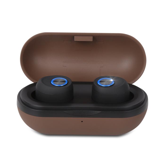 앱코 BEATONIC 블루투스 5.0 무선 휴대용 이어폰 E04, 브라운