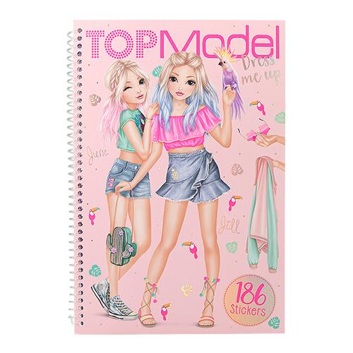 탑모델 러블리 코디 스티커북 10576, 혼합 색상