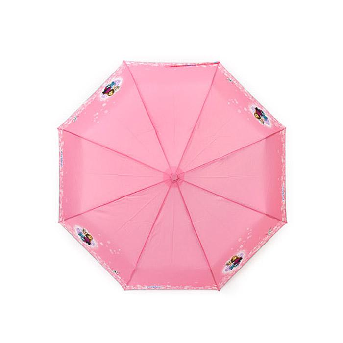 겨울왕국 3단 자동우산 핑크 러브스노우-70001