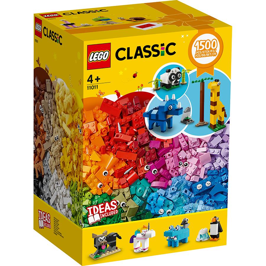 레고 클래식 브릭과 동물 11011, 혼합 색상