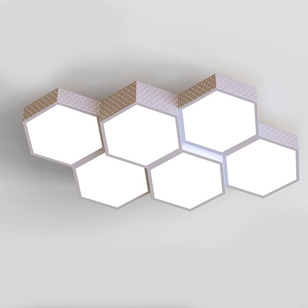 [LED 거실등] Vissko 오스람안정기 KS인증 LED 벌집 6등 거실 조명 LG칩 100W, 혼합 색상 - 랭킹34위 (155730원)