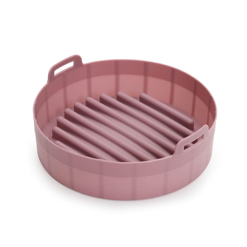 모던 실리콘 에어프라이어용기 특대형, 핑크, 1개