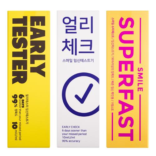 스마일 얼리체크 + 얼리테스터 + 슈퍼패스트 임신테스트기 10mIU 3종세트, 1세트