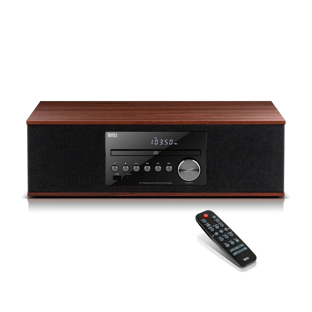 브리츠 일체형 CD플레이어 오디오 라디오 블루투스 스피커, BZ-T7750, 혼합 색상