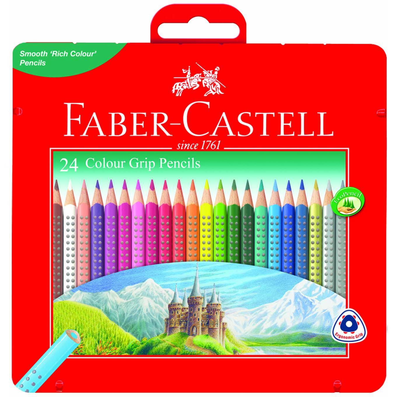 파버카스텔 유성 컬러그립 색연필 틴케이스, 24색