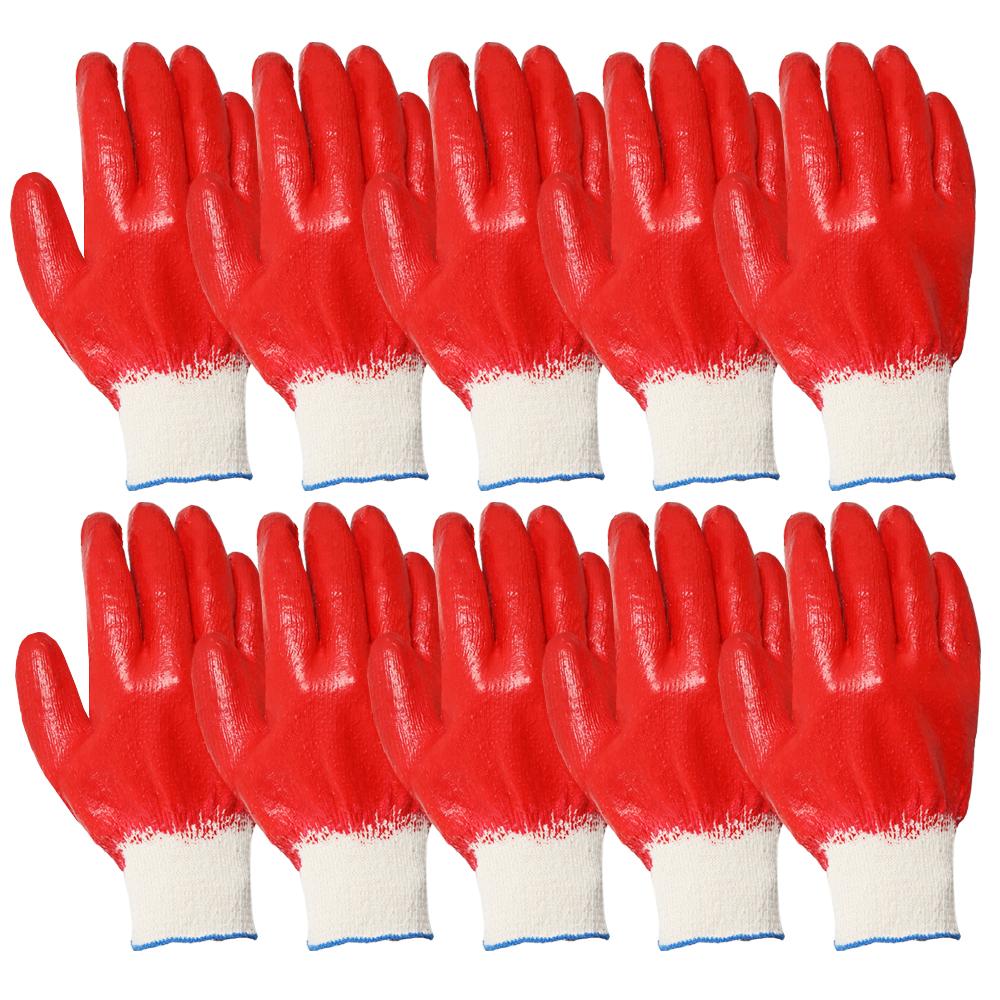 워크맨 온코팅 장갑, 빨강, 10개