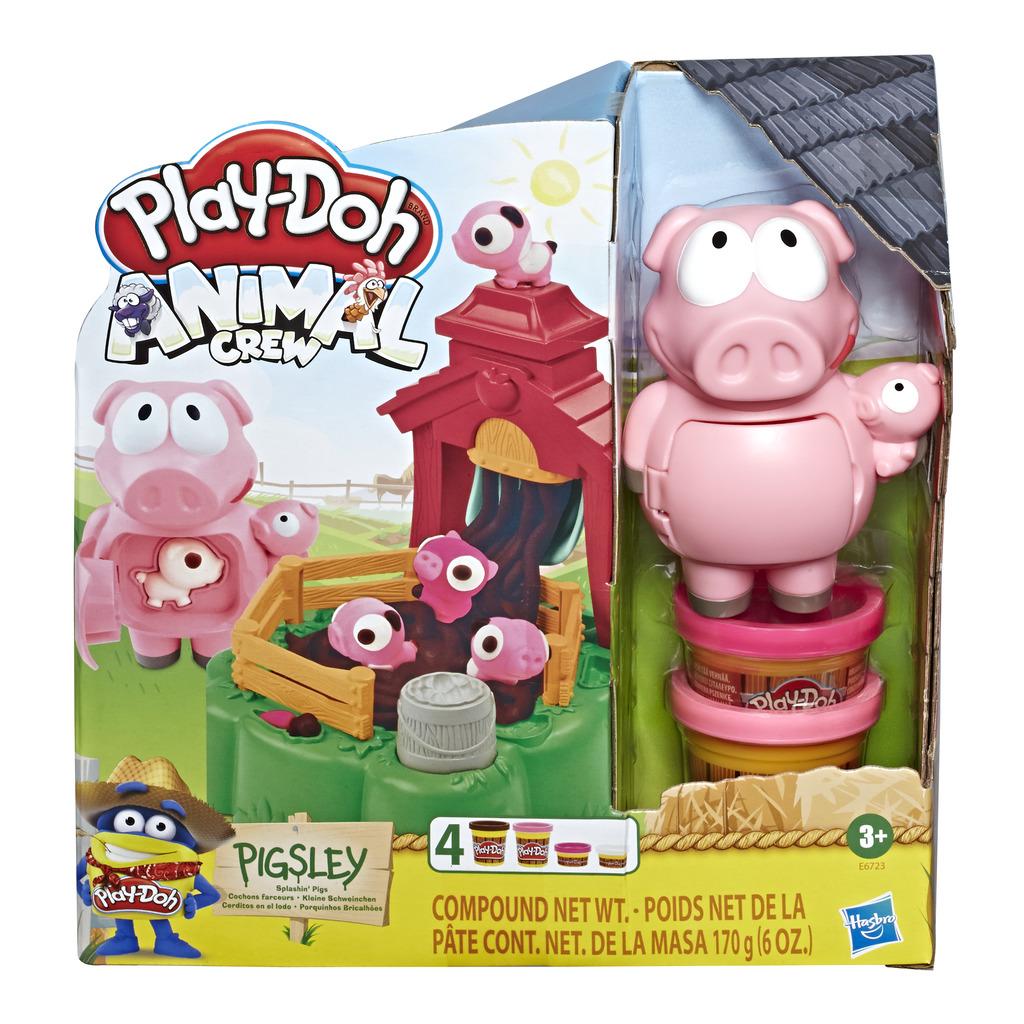 플레이도 동물농장 분홍 돼지 플레이 클레이 세트, 혼합 색상, 4064g