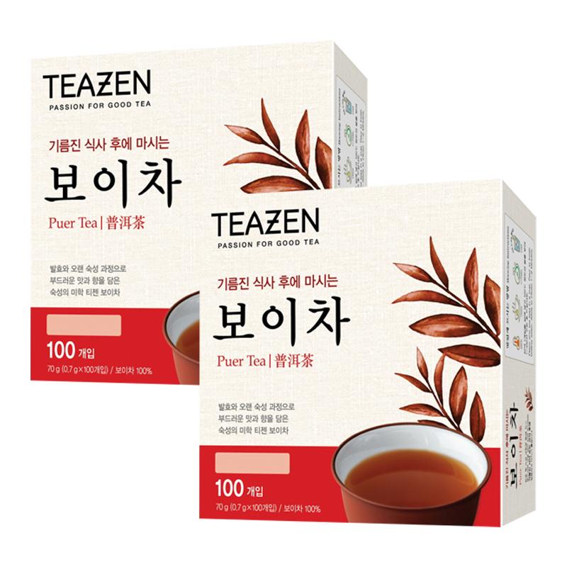티젠 보이차 티백, 0.7g, 200개