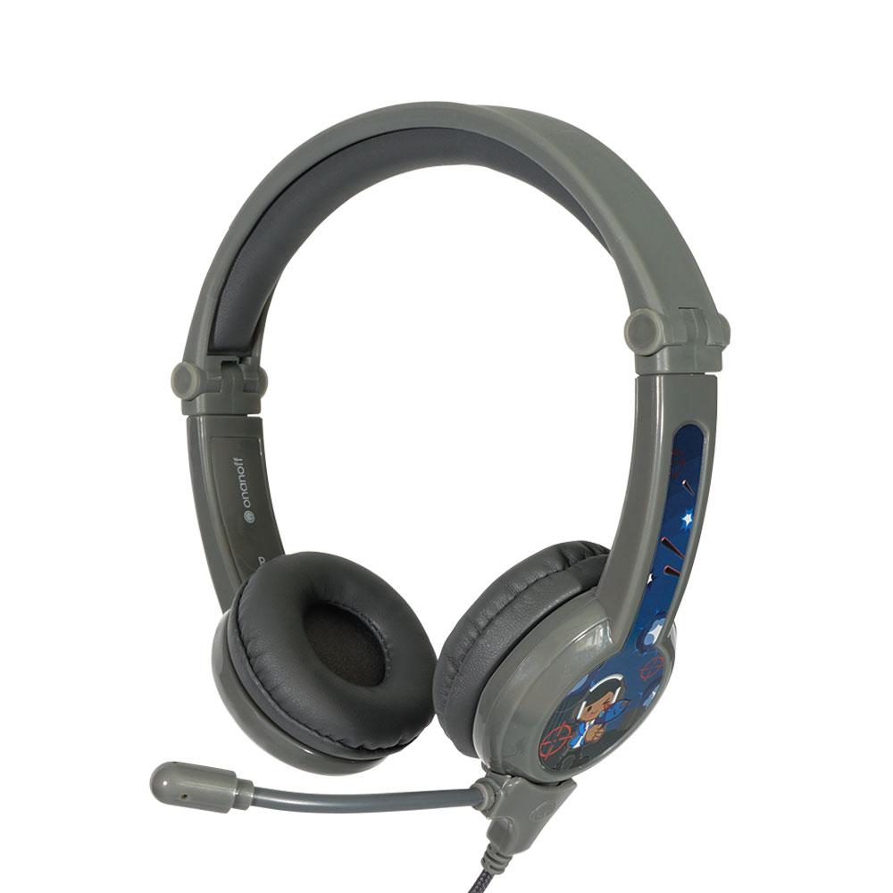 온앤오프 버디폰 갤럭시 어린이청력보호 어학용헤드셋, 단일 상품, 그레이
