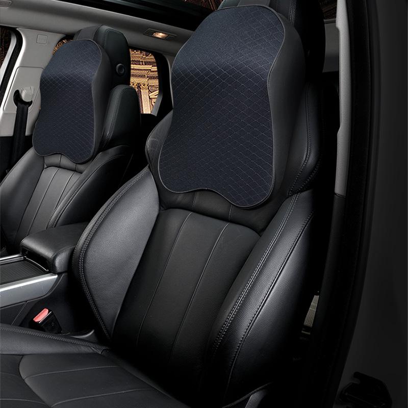 킨톤 차량용 메모리폼 빅목쿠션 2p, 모던 블랙