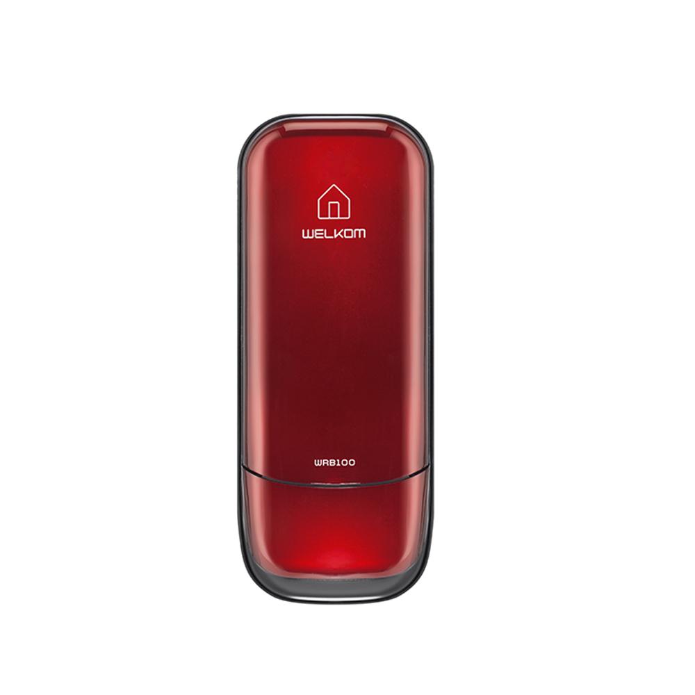 웰콤 번호전용 보조키형 디지털도어락 레드 WRB-100