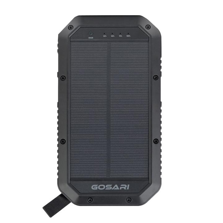 고사리 솔라 LED 램프 태양열 4대 동시 무선 충전 대용량 보조배터리 20000mAh MT20000QS, 혼합 색상, 1개
