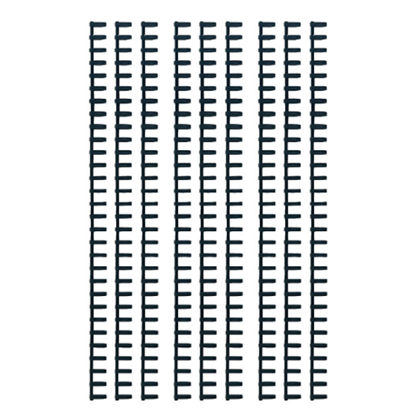 칼 루즈링 제본와이어링 9p, 14mm, 블랙
