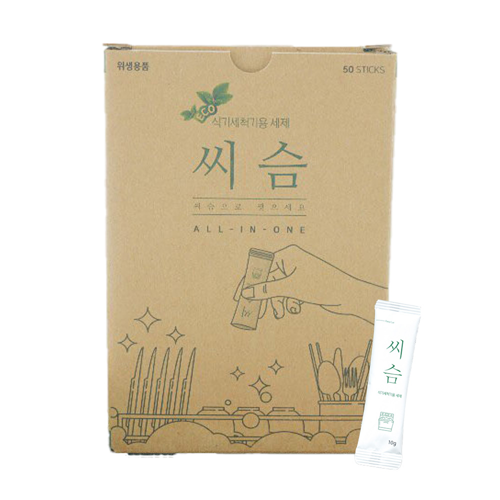 씨슴 식기세척기용 분말 세제, 500g, 1개